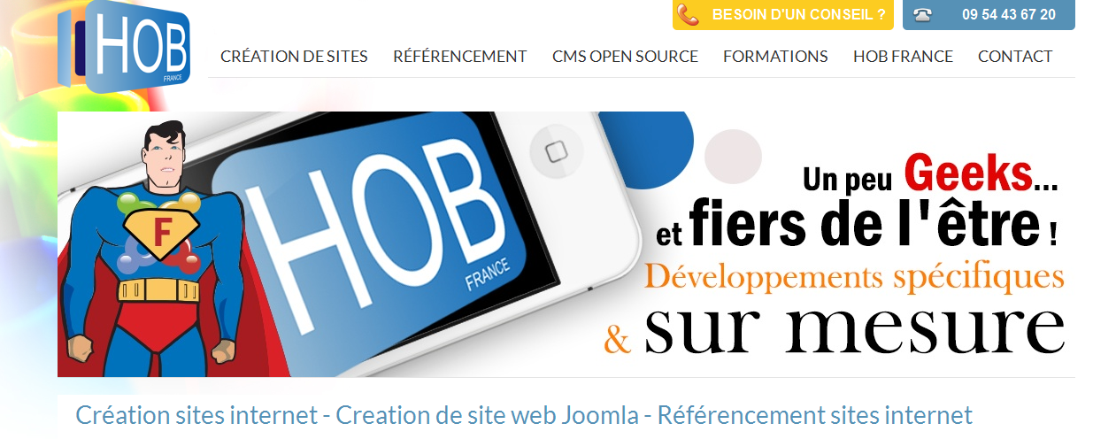 HOB France agence web professionnels joomla